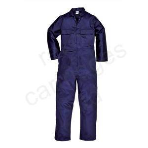 PORTWEST STUD FRONT COVERALL NAVY