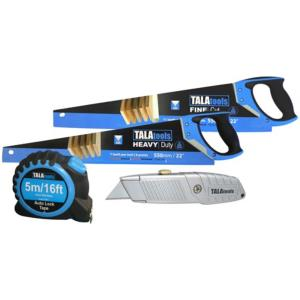 Tala Twin Saw Pack with Knife & Measuring Tape