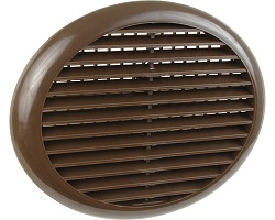 "4"" Round Louvre Vent Brown"
