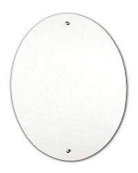 Tema Surefix Pre-Drilled Oval Mirror 60 X 40CM