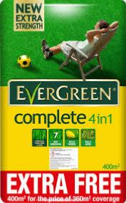 EVERGREEN COMPLETE 4 IN 1 360M2 14KG 10% EXTRA FREE