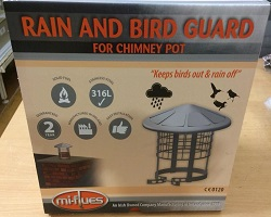 "8"" MI Flues Anti Bird & Rain Cowl"