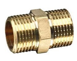 "1"" Brass Hex Nipple"