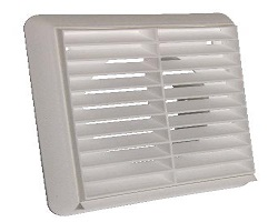 "4"" White Terminal Vent With Flyscreen"