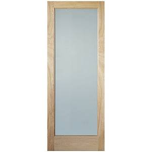.INDOORS RUSHMORE CLEAR GLAZED OAK PRE-FINISHED DOOR