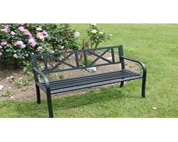 Culcitta Soft Cross Steel Park Bench