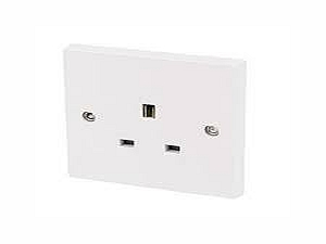 13AMP Single Unswitched Socket
