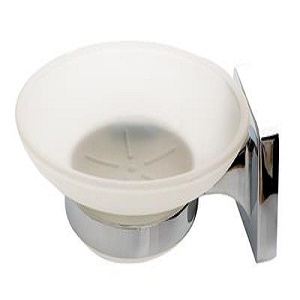 Tema Verona Soap Dish With Frosted Glass
