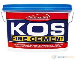 Kos Fire Cement Black 12.5KG