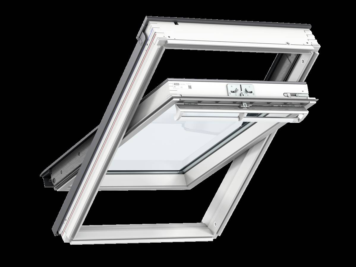 velux ggl ck02 white pained window