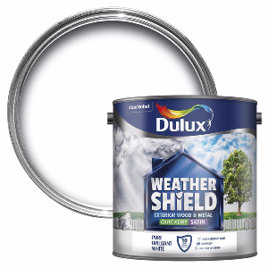 Dulux Weathershield Exterior Satinwood Paint - 750ml