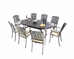 Brompton Cast Aluminum 8 Seater Oval Set