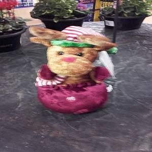"8"" ANIMATED PLUSH REINDEER"