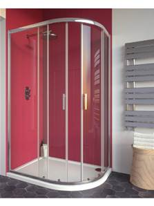 City Plus Off Quadrant Double Door - 1000 x 800 x 1900 mm