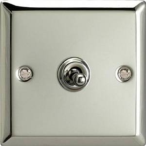 1 GANG CHROME TOGGLE SWITCH PP/XCT1