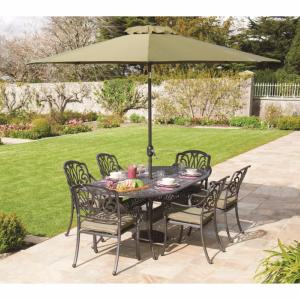 Amalfi Cast Aluminium 6 Seater Oval Set