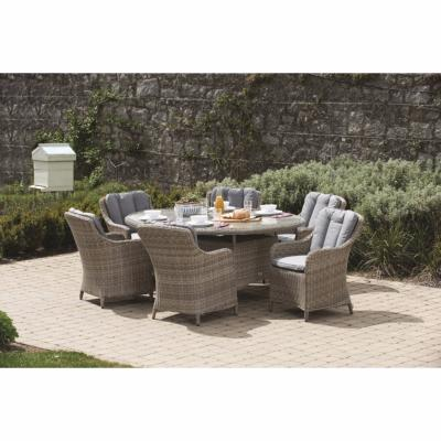 Wentworth Rattan 6 Seater Oval Dining Set - 200x145cm