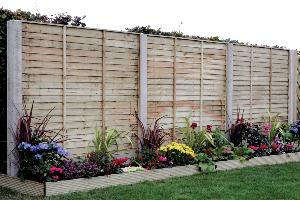 SHIPLAP OVERLAP FENCE PANELS 1.8X1.8M (BROWN)