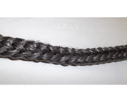 12MM Black Heavy Glass Chord Per Metre