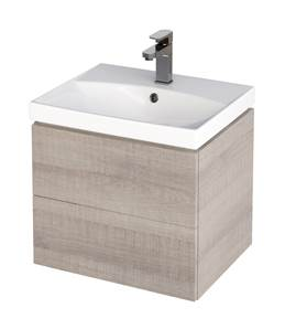 City Wall Hung Vanity Unit & Basin Grey Oak - 70 cm