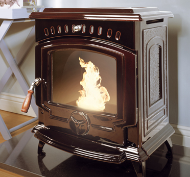Tara Oil Fired Stove - Majolica Brown