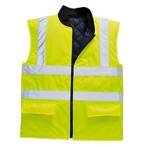 Portwest HI VIZ BODYWARMER YELLOW