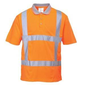 Portwest S177 ORANGE REFLECTIVE POLO SHIRT