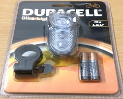 Duracell Front Bicycle Light 3 LED