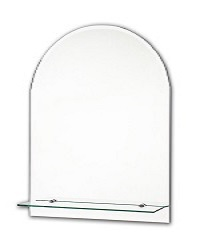 Tema Bevelled Arch Top Mirror With 1 Shelf 60 X 40CM