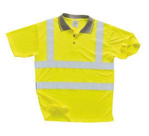 Portwest HI VIS SHORT SLEEVE POLO SHIRT YELLOW