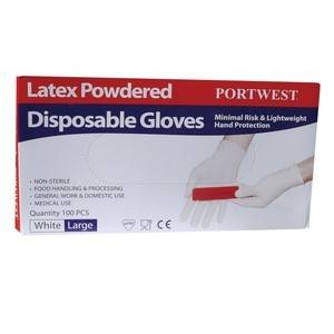 Portwest A910WHR POWDERED DISPOSABLE GLOVE