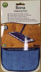 BONA MICRO-FIBRE CLEANING PAD BLUE