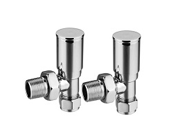 "1/2"" Chrome Angle Radiator Valve (Pair)"