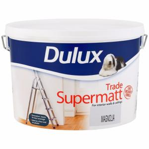 Dulux Trade Supermatt Magnolia Paint - 10 Litre