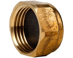 "1/2"" 372 Brass End Cap"