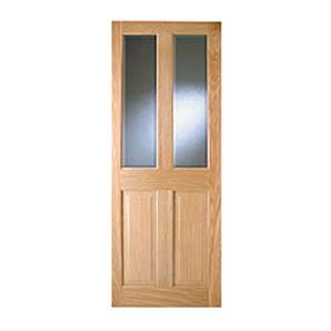 PICTON ADDISON PF 4 PANEL OAK TINTERN GLASS DOOR 78X30