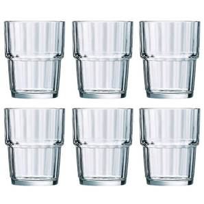 Norvege 200 ml Stacking Glasses GL1017 - 6 Piece