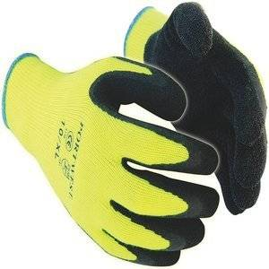 PORTWEST THERMAL GRIP GLOVES YELLOW/BLACK