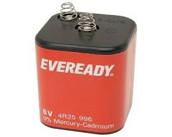 EverReady 6 Volt Battery