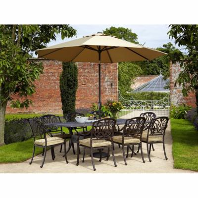 Amalfi Cast Aluminium 8 Seater Rectangular Furniture Set