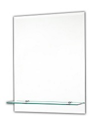 Tema Bevelled Rectangular Mirror With 1 Shelf 50 X 40CM