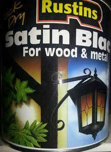 RUSTINS SATIN BLACK 500ML