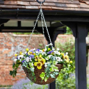 Faux Décor Pansy Hanging Easy Basket - 30cm