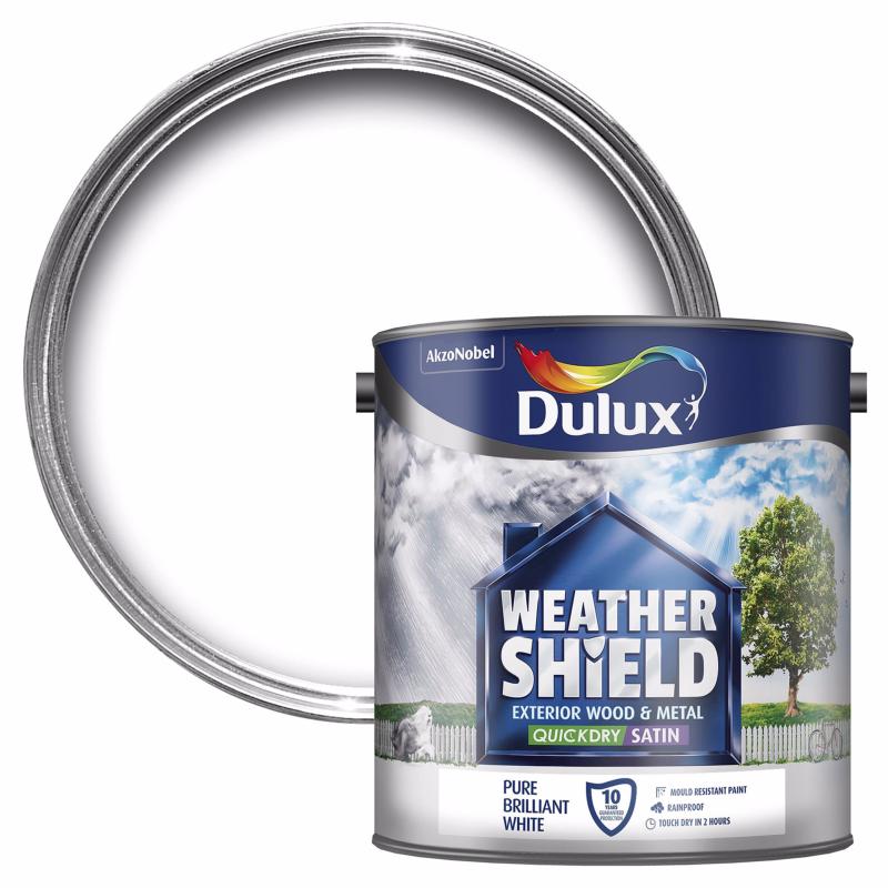 Dulux Weathershield Exterior Satinwood Paint 750ml