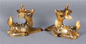 10CM SITTING GLAZED BABY DEER 2 ASSORTED