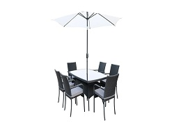 Sienna Rectangular Rattan 6 Seater Set