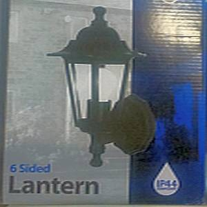 6 sided wall lantern Black