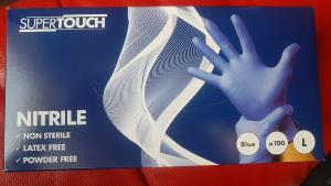 DISPOSABLE NITRILE GLOVE BOX 100 BLUE SIZE LARGE