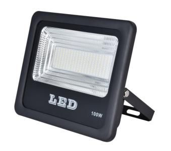 Starbrite Auriga Black Slim LED Floodlight (Cool White) - 100W