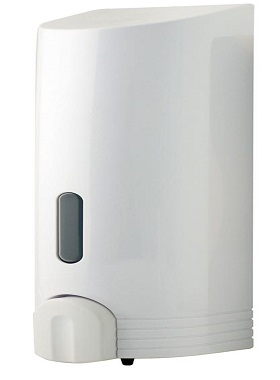 Euroshower Tall Single Dispenser White